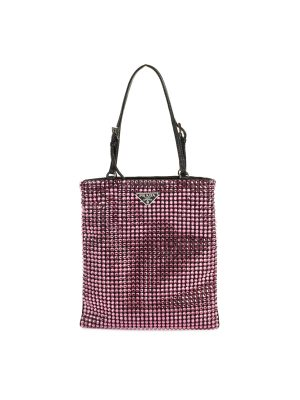 Leather Crystal Embellished Nylon Mini Bag by Prada - Le Dressing Monaco