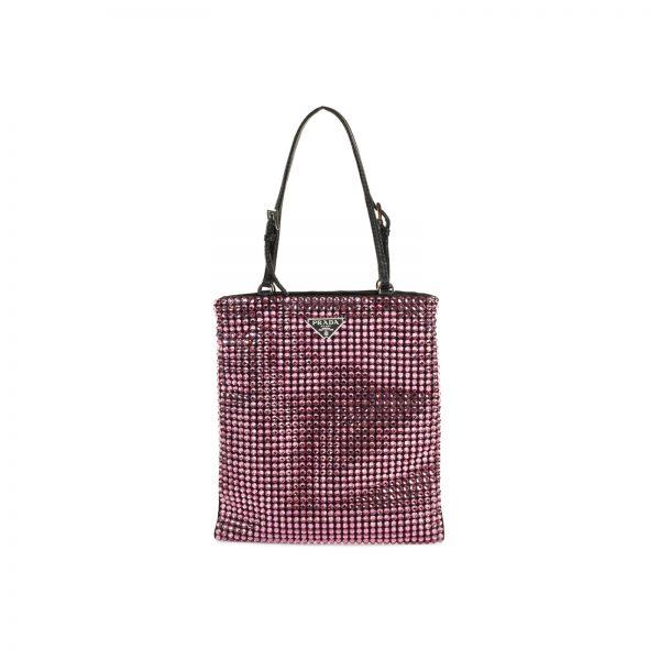 Leather Crystal Embellished Nylon Mini Bag by Prada - Le Dressing Monaco
