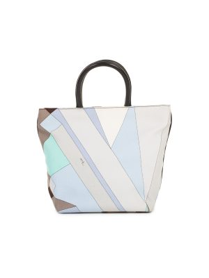 Multicolored Alex Print Striped Tote Bag by Emilio Pucci - Le Dressing Monaco