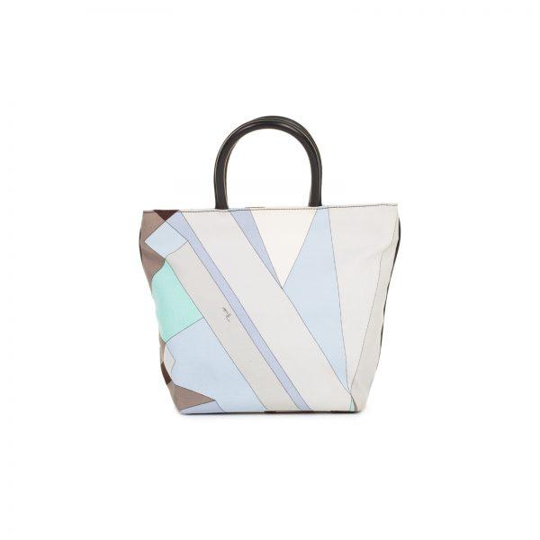 Multicolored Alex Print Striped Tote Bag by Emilio Pucci - Le Dressing Monaco