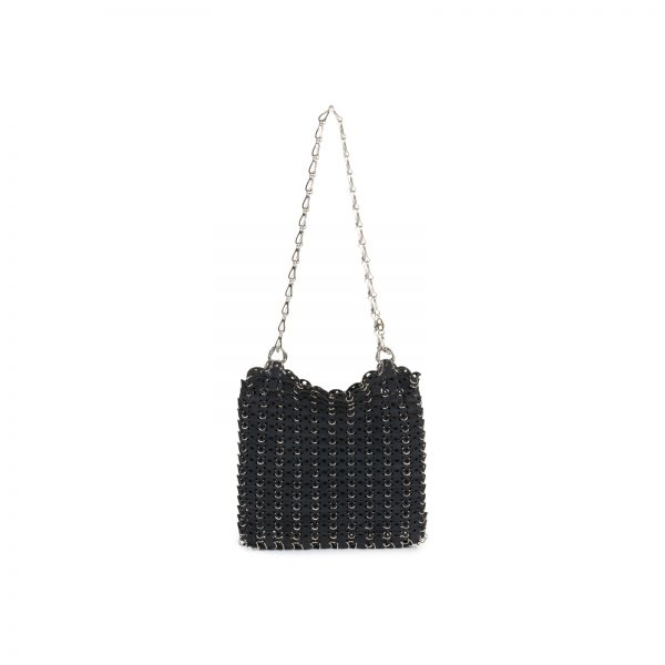 "The ""69"" Black Suede Bag by Paco Rabanne - Le Dressing Monaco"