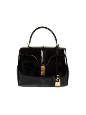 16 Black Patent Leather Hand Bag by Celine - Le Dressing Monaco