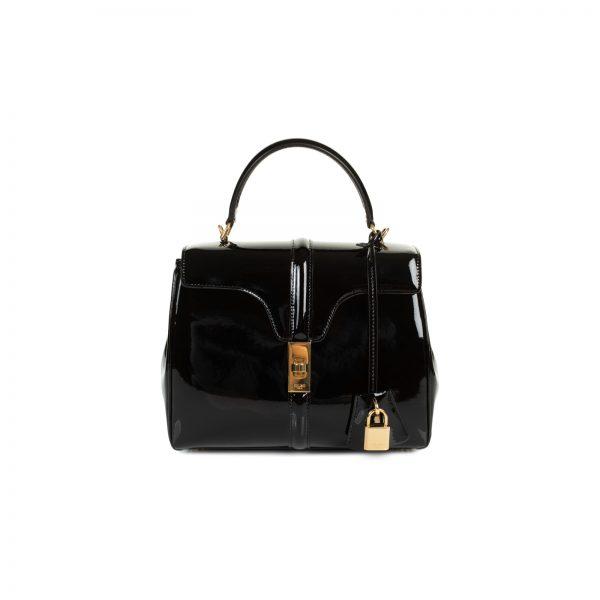 16 Black Patent Leather Hand Bag by Celine - Le Dressing Monaco
