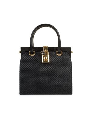 Canvas Leather Flower Lock Frame Bag by Dolce & Gabbana - Le Dressing Monaco
