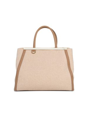 Sac 2 Jour Canvas Leather Peekaboo Bag by Fendi - Le Dressing Monaco