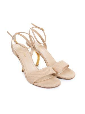 """D Sculpture"" Ankle Wrapped Sandal by Christian Dior - Le Dressing Monaco"