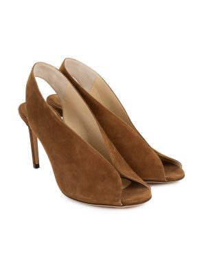 Shar Peep-Toe Suede Leather Slingbacks by Jimmy Choo - Le Dressing Monaco