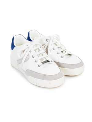 White Blue Vegan Leather Sneakers by Stella McCartney - Le Dressing Monaco