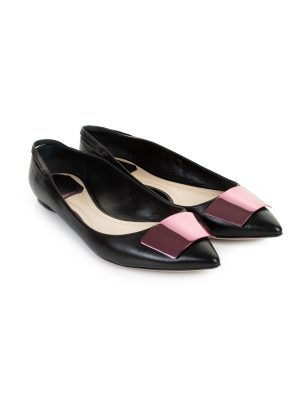 Pointed Leather Ankle strap Flats by Christian Dior - Le Dressing Monaco