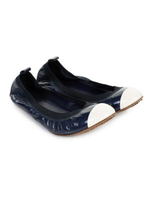 Patent CC Stretch Ballerinas Ballet Flats by Chanel - Le Dressing Monaco