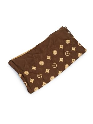 Monogram Brown Silk Blended Scarf by Louis Vuitton - Le Dressing Monaco