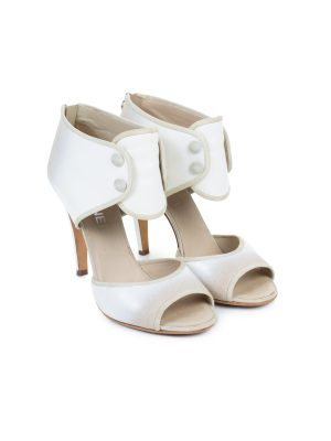 Button Embellished Ankle Strap Sandals by Chanel - Le Dressing Monaco