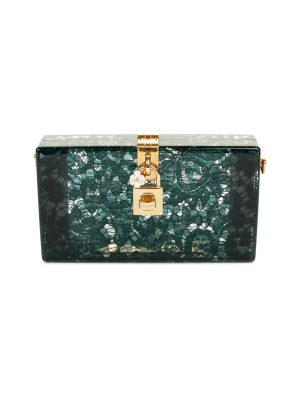 Green Taormina Lace Crystal Clutch by Dolce & Gabbana - Le Dressing Monaco