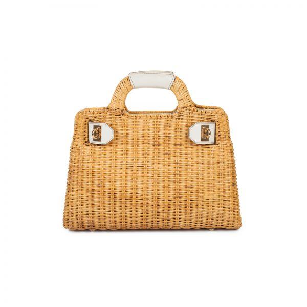 Woven Straw W Bag by Salvatore Ferragamo - Le Dressing Monaco