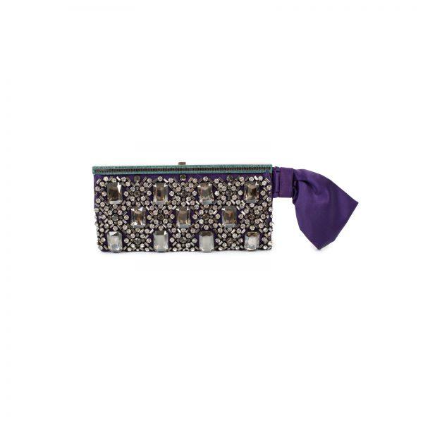 Rhinestone Embellished Bow Clutch by Valentino Garavani - Le Dressing Monaco