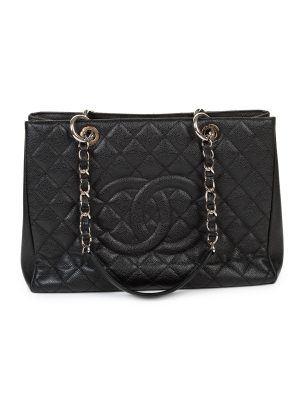 Caviar Tote Chain Shopper Bag by Chanel - Le Dressing Monaco