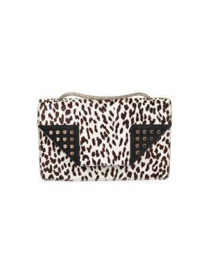 Calf Hair Leather Snow Leopard Betty Bag by Saint Laurent - Le Dressing Monaco