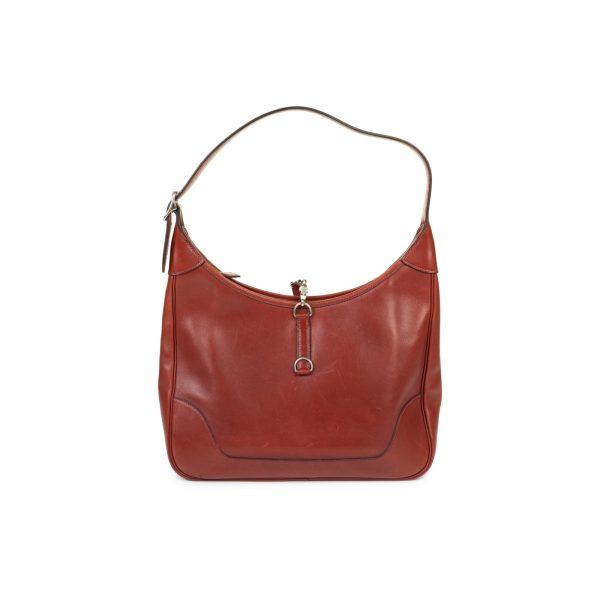 31 Cm Leather Rouge H Trim Bag by Hermes - Le Dressing Monaco