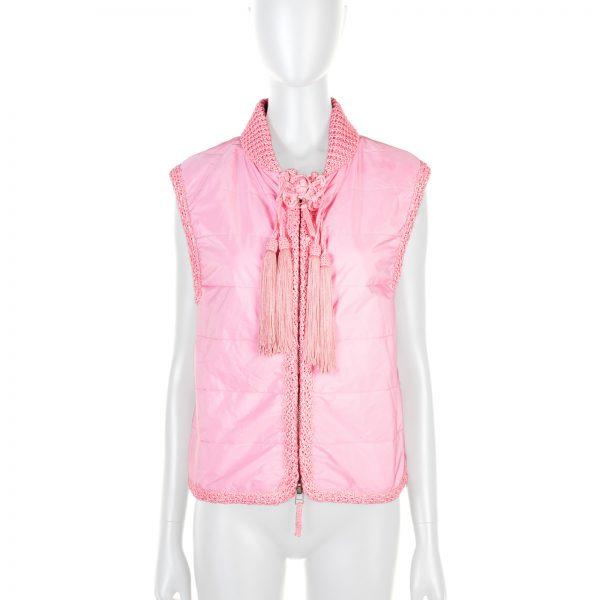 Pink Tassel Embellished Jacket by Ermanno Scervino - Le Dressing Monaco
