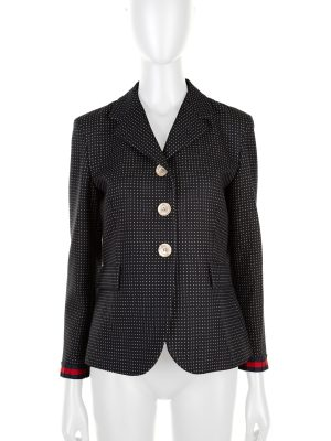 Ribbon Embellished Polka Dots Blazer by Gucci - Le Dressing Monaco