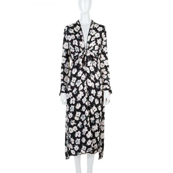 Printed Silk Georgette Midi Floral Dress by Proenza Schouler - Le Dressing Monaco