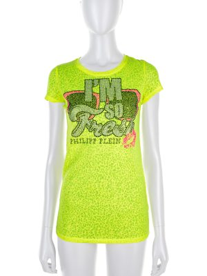 """I'm So Fresh"" Crystal Embellished Top by Philipp Plein - Le Dressing Monaco"