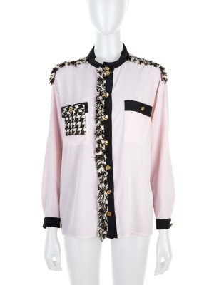 Tiger in The Rain Tweed Embellished Blouse by Chanel - Le Dressing Monaco