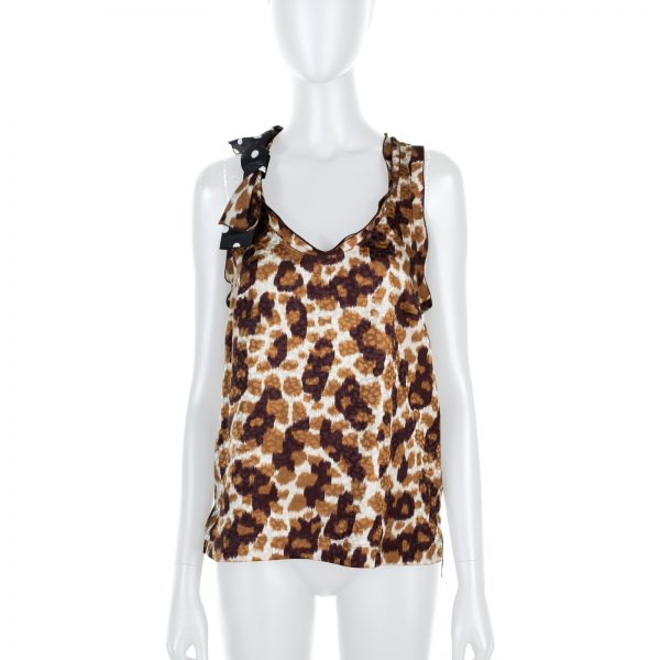 Leopard Printed And Polka Dot Bow Top by Louis Vuitton - Le Dressing Monaco