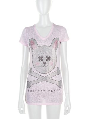 """Rabbit Skull"" Crystal Embellished Top by Philipp Plein - Le Dressing Monaco"