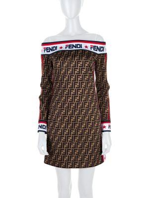 X Fila Mini Off The Shoulder Dress by Fendi - Le Dressing Monaco