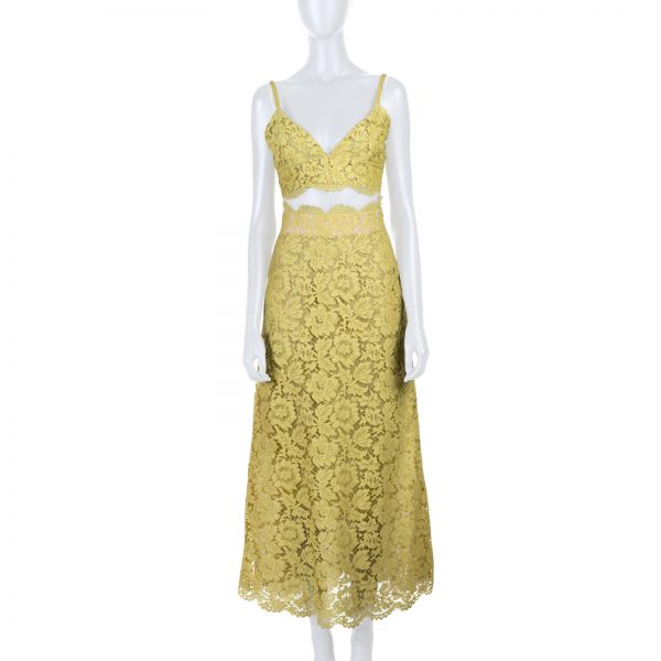 High Waisted Lace Skirt And Top by Valentino - Le Dressing Monaco