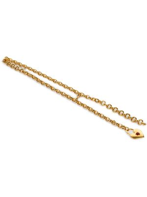 Gold Chain Heart Embellished Belt by Chanel - Le Dressing Monaco