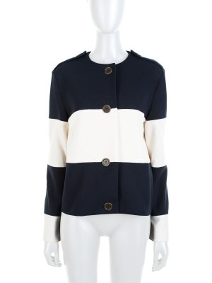 Navy White Stripped Jacket 2015 by Lanvin - Le Dressing Monaco