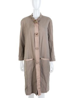 SEO title preview: Beige Jewel Embellished Coat by Lanvin - Le Dressing Monaco