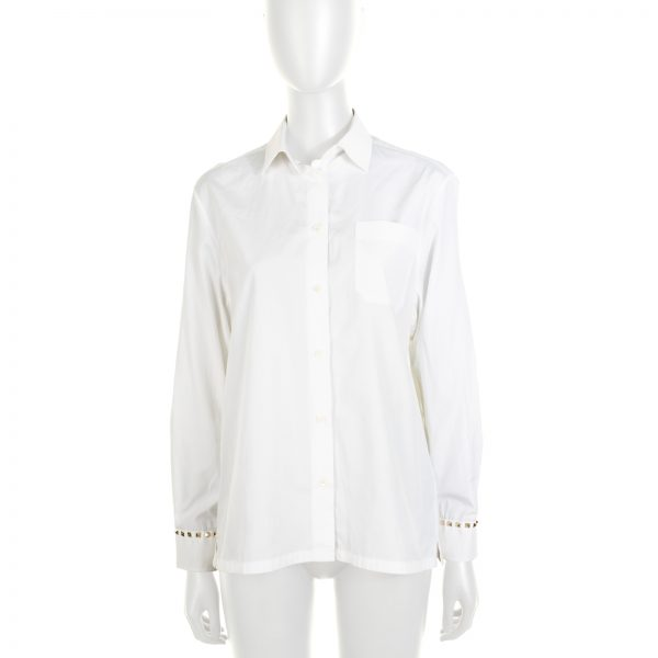 Rockstud Cotton Poplin Shirt by Valentino - Le Dressing Monaco