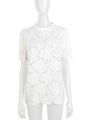 White Guipure Lace Flower Top by Lanvin - Le Dressing Monaco