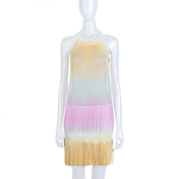 Lurex Tie Dye Pleated Mini Dress by Blumarine - Le Dressing Monaco