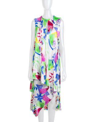 Multicolored Jacquard Silk Dress by Balenciaga - Le Dressing Monaco