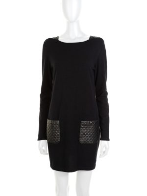 Quilted Leather Embellished Dress by Chanel - Le Dressing Monaco