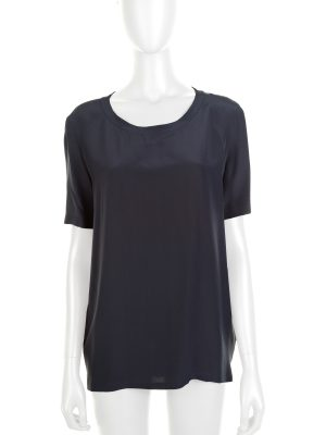Bicolor Silk Buttonned Top by Chanel - Le Dressing Monaco