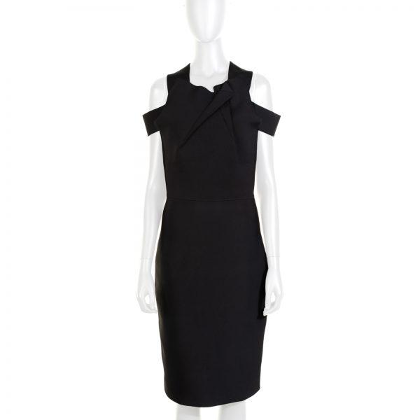 Black Swangrove Cut-Out Dress by Roland Mouret - Le Dressing Monaco