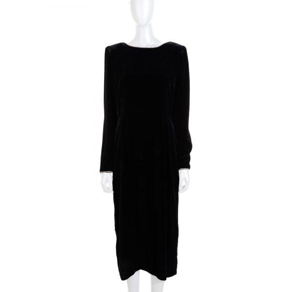 Velvet Crystal Embellished Bow Dress by Gucci - Le Dressing Monaco