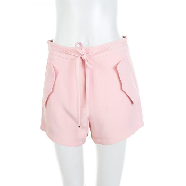 Blush Pocket Tie Front Shorts by Louis vuitton - Le Dressing Monaco