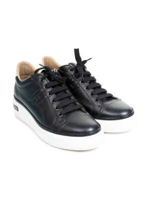 Black Polo Leather Sneakers by Hermes - Le Dressing Monaco