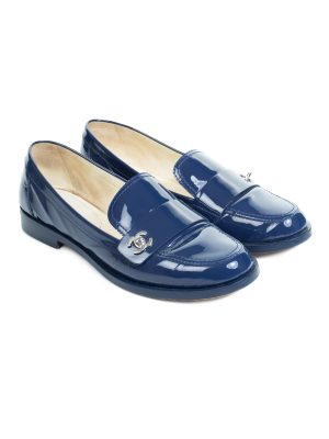 Patent Leather CC Loafers by Chanel - Le Dressing Monaco