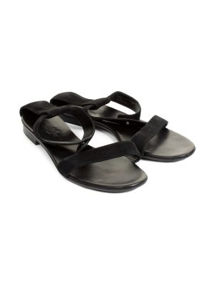 SEO title preview: Black Suede Ankle Wrapped Sandals by Hermes - Le Dressing Monaco