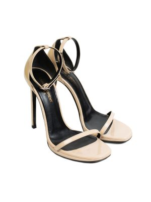 Leather Ankle Wrapped Sandals by Saint Laurent - Le Dressing Monaco