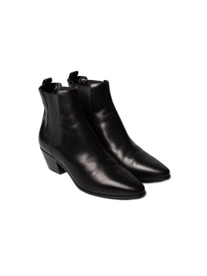 Chelsea Ankle Leather Black Boots by Saint Laurent - Le Dressing Monaco