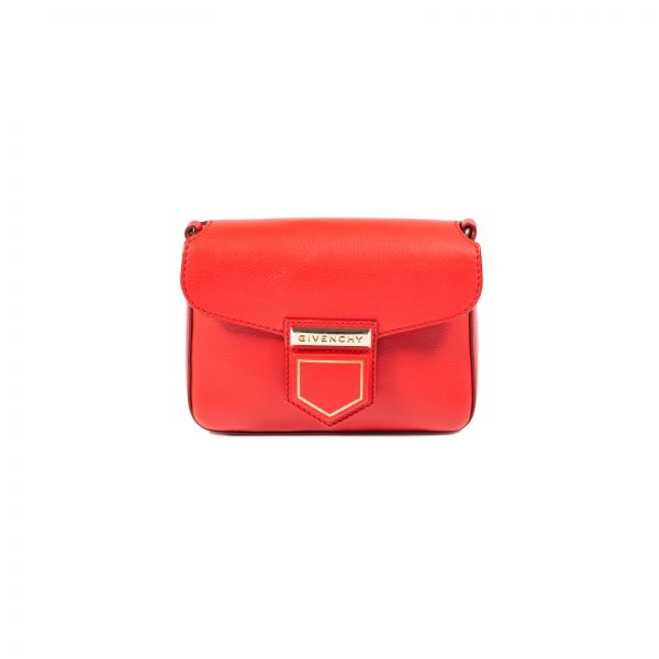Red Nobile Leather Crossbody Bag by Givenchy - Le Dressing Monaco