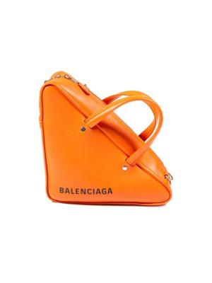 Orange Triangle Duffle Bag by Balenciaga - Le Dressing Monaco